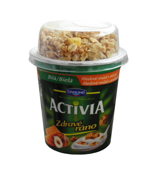 Activia Healthy morning white muesli with honey and nuts Danone