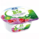 Organic fruit curd yogurt with cranberry Milko
