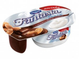 Fantasia mousse with chocolate and almonds Danone