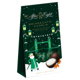 Balls of dark chocolate with peppermint filling After eight