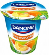 Danone yogurt full of apricots