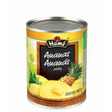 sliced ​​pineapple compote Hamé