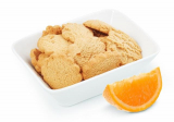 Low calorie biscuits flavored with orange Victus