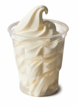 McDonald's McSundae ice cream Plain