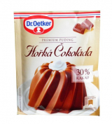 Dr. Oetker pudding Premium Dark Chocolate 30% Cocoa finished dish