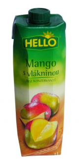 Hello mango juice with pulp
