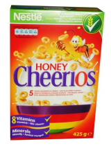 Honey Cheerios whole grain cereal rings with honey Nestlé