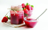 strawberry jam in a glass Victus