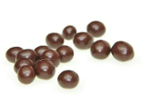 Coffee beans in chocolate icing