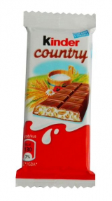 Kinder chocolate bar Country