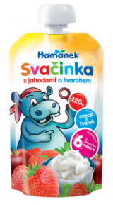 snack with strawberries and cream cheese Hamánek