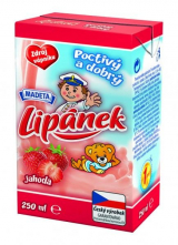 Lipánek durable strawberry milk 1.3% Madeta