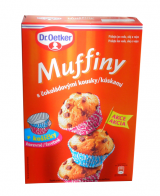 Muffins with bright pieces čokoláládovými Dr.Oetker