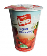 Our Bio strawberry yogurt