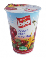 Our bio cherry and vanilla yogurt