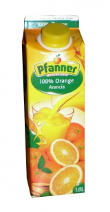 Pfanner 100% orange juice from concentrate