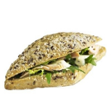 sandwich with roasted salmon CrossCafe