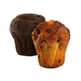 Vanilla muffin with chocolate CrossCafe
