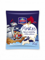 Pirates rice cakes with white frosting Racio