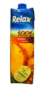 Relax pineapple juice with pulp 100%