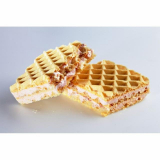 Waffles with ham-cheese-flavored Victus