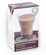 Drink with chocolate flavor in a box Victus