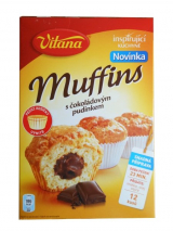 Vitana muffins with chocolate pudding