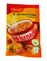 in a cup of soup with liver dumplings Vitana