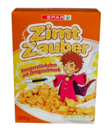Zimt Zauber squares cereal with sugar and cinnamon