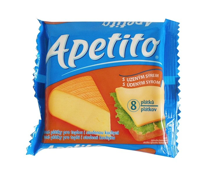 Apetito with smoked cheese melted slices