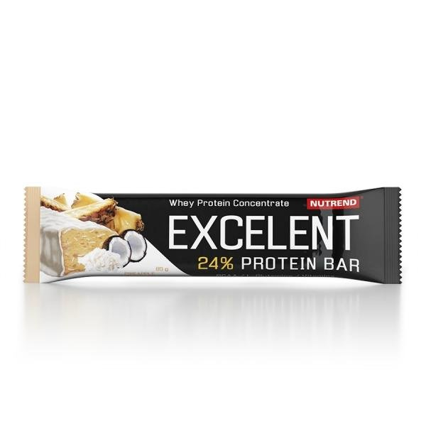Excellent 24% Protein Bar pineapple with coconut, black currants, cranberries, lime and papaya, banana passionfruit Brazilian fruit Nutrend