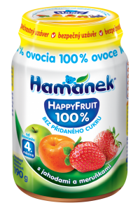 snack with strawberries and apricots HappyFruit Hamánek