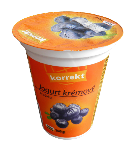 Korrekt creamy blueberry yogurt