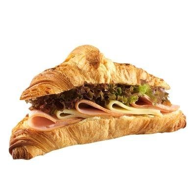 Croissant filled with ham cheese CrossCafe