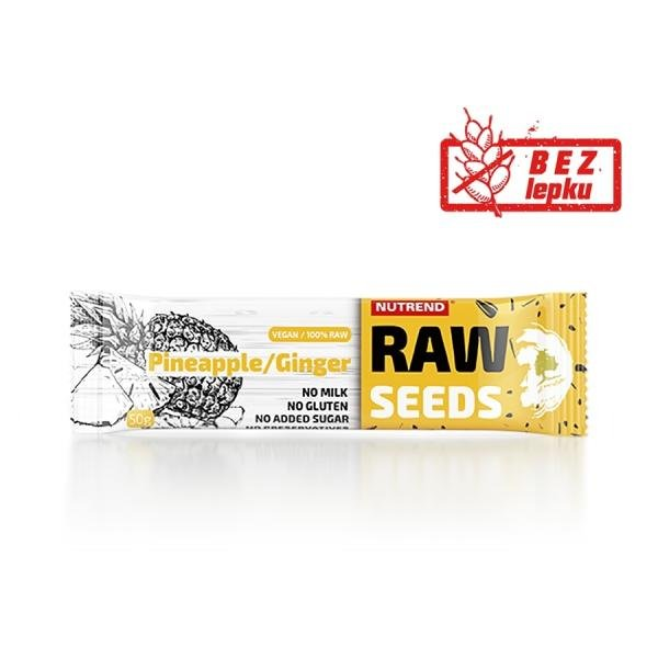 Raw seeds Pineapple Ginger bar Nutrend