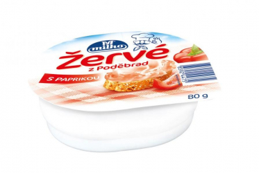 cream cheese with paprika from Podebrady Milko