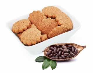 Low calorie biscuits flavored with cocoa Victus