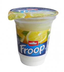 Müller Froop on lemon yogurt