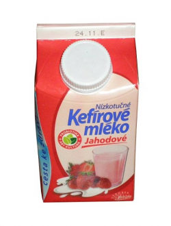 Kefir low-fat strawberry milk
