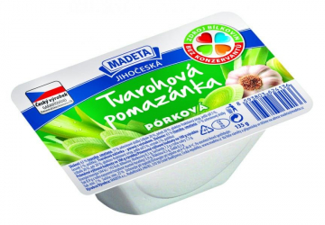 South Bohemian cottage cheese spread leek Madeta