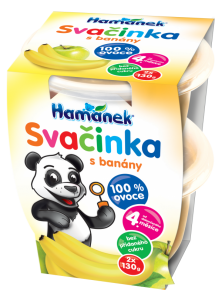 snack with bananas Hamánek