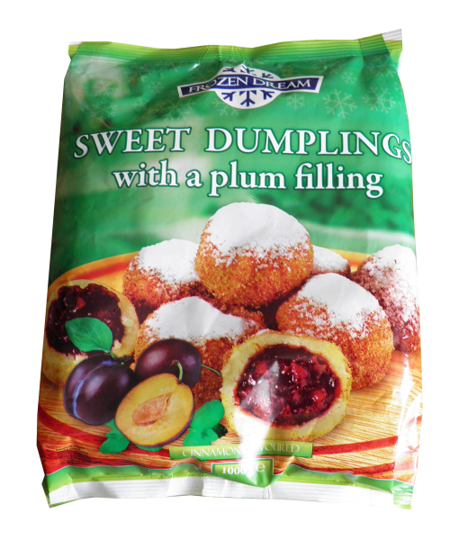 dumplings with plum filling deep frozen