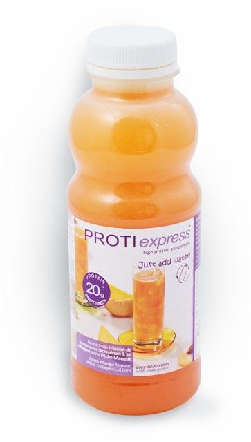 Drink flavored with peach and mango Victus