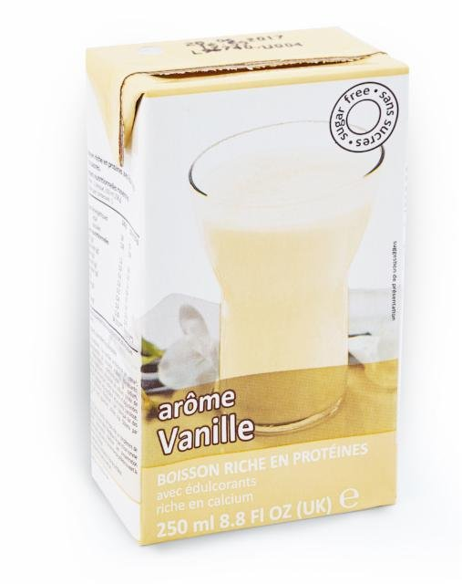 Drink with vanilla flavor in a box Victus