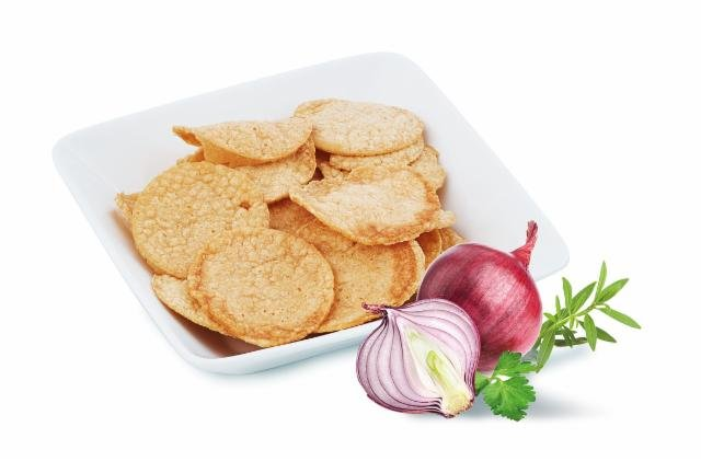 Protein chips flavored with cream and onion Victus